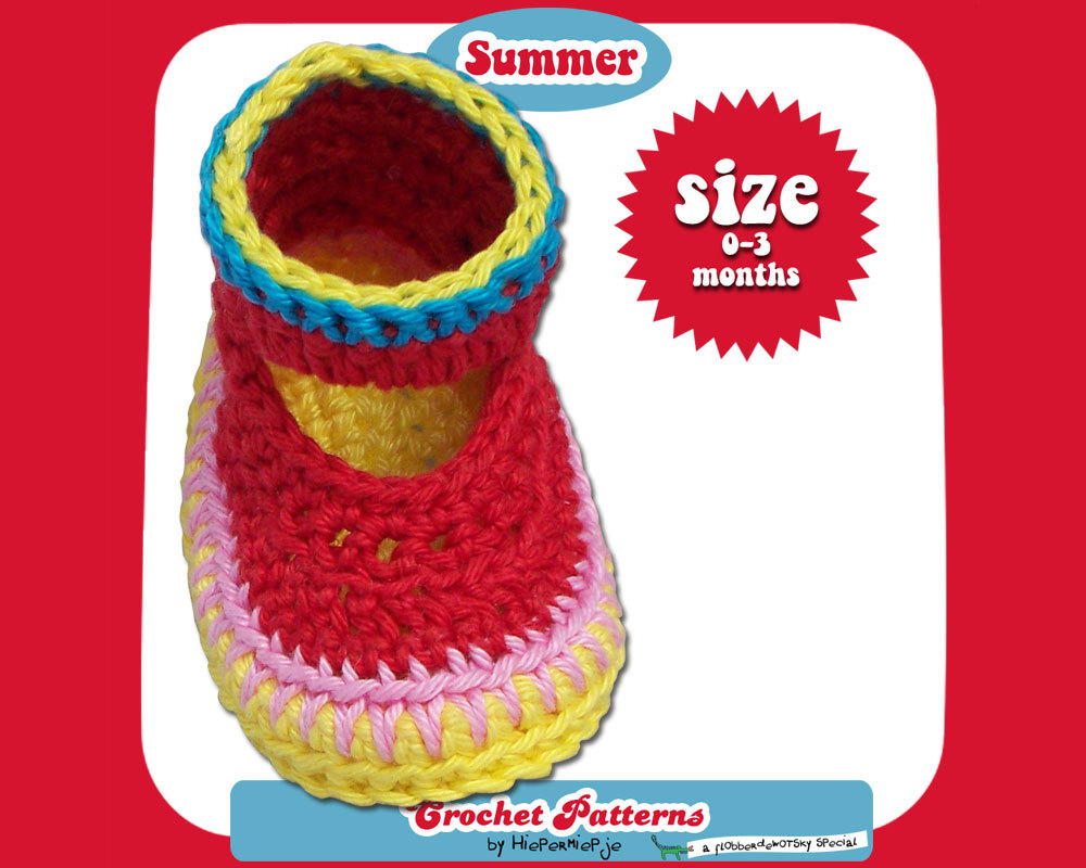 Crochet Pattern Baby Booties Summer Pattern Crochet Baby Booties